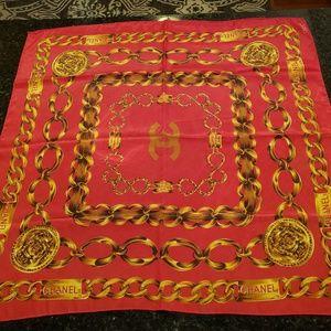Chanel Vintage Rue Cambon Paris Silk Scarf